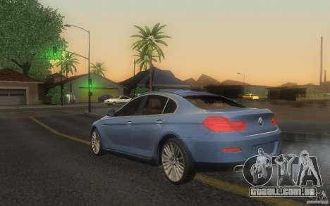 BMW 6 Series Gran Coupe 2013 para GTA San Andreas esquerda vista