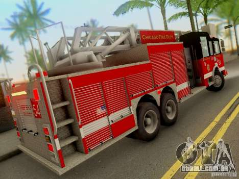 Pierce Tower Ladder 54 Chicago Fire Department para GTA San Andreas vista direita