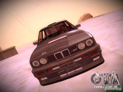 BMW M3 Drift para GTA San Andreas traseira esquerda vista