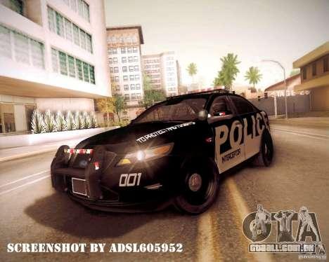 Ford Taurus Police Interceptor 2011 para GTA San Andreas