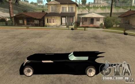 Batmobile Tas v 1.5 para GTA San Andreas esquerda vista