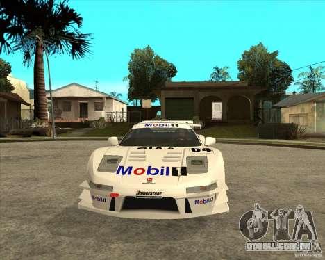 2001 Honda Mobil 1 NSX JGTC para GTA San Andreas vista traseira