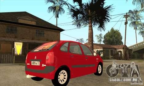 Citroen Xsara Picasso para GTA San Andreas vista direita