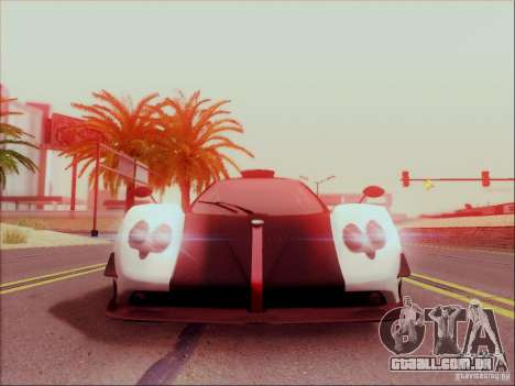 Pagani Zonda Cinque para GTA San Andreas esquerda vista