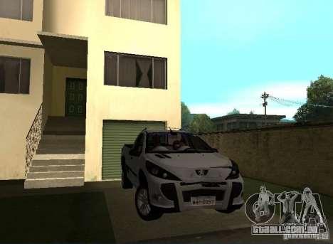 Peugeot Hoggar Escapade 2010 para GTA San Andreas vista direita