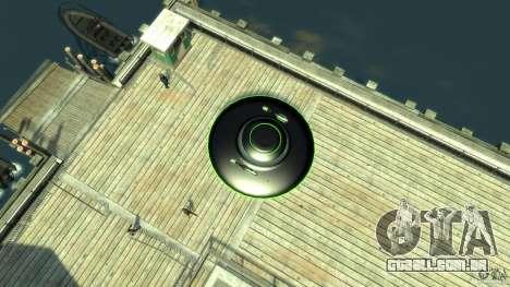 UFO neon ufo green para GTA 4 vista direita