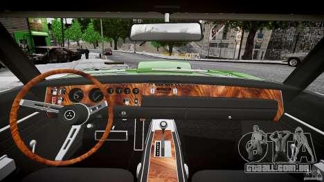 Dodge Charger RT 1969 tun v 1.1 baixo passeio para GTA 4 vista superior