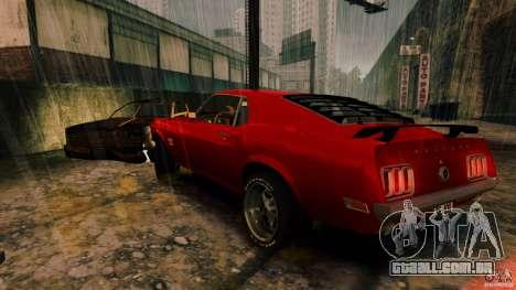 Ford Mustang BOSS 429 para GTA 4 traseira esquerda vista