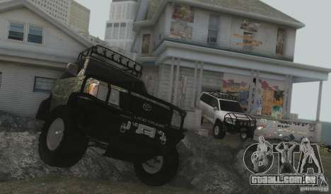 Toyota Land Cruiser 100 Off Road para GTA San Andreas vista traseira