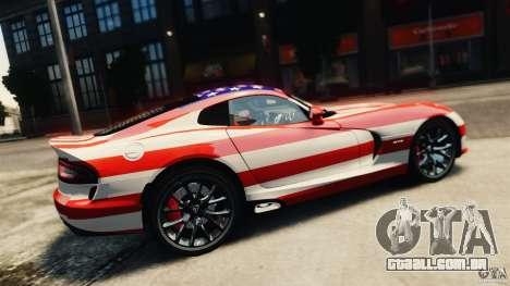 Dodge Viper GTS 2013 para GTA 4 vista de volta