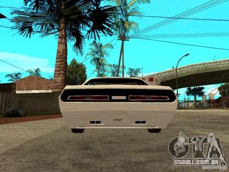 Dodge Challenger Speed 1971 para GTA San Andreas traseira esquerda vista