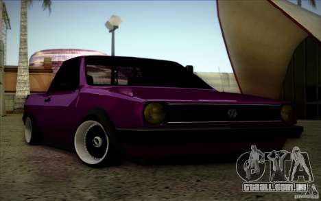 Volkswagen Polo Pickup para GTA San Andreas vista interior