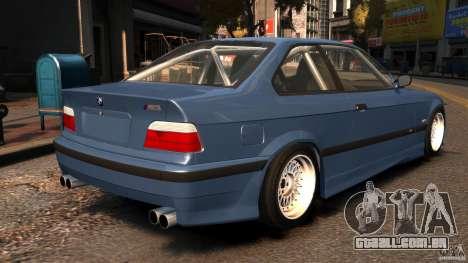 BMW M3 E36 FSC para GTA 4 traseira esquerda vista
