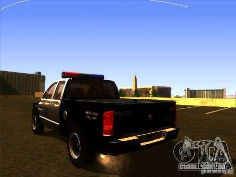 Dodge Ram 1500 Police para GTA San Andreas esquerda vista