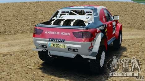 Mitsubishi L200 Triton para GTA 4 traseira esquerda vista