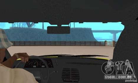 VAZ 21124 TÁXI para GTA San Andreas vista traseira