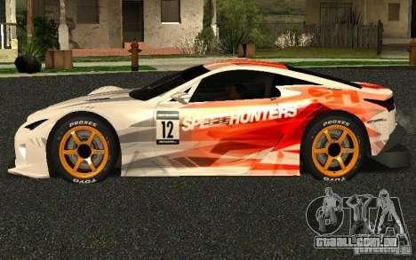 Lexus LFA Speedhunters Edition para GTA San Andreas esquerda vista