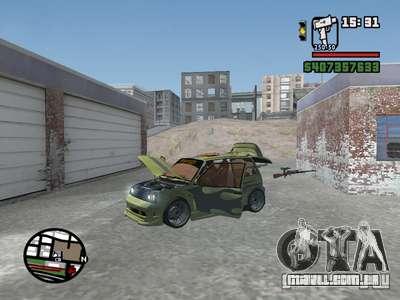 1111 OKA (tuning) para GTA San Andreas vista inferior