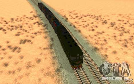 New Graffity Train para GTA San Andreas vista traseira