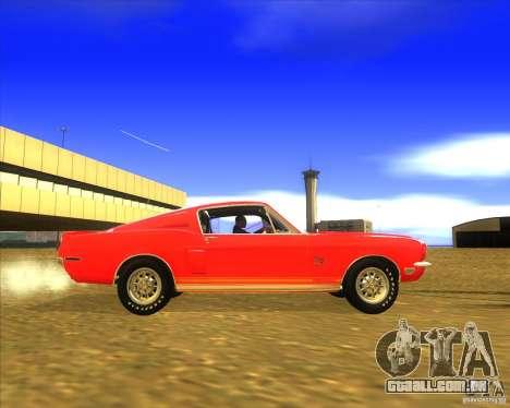 Shelby GT500KR 1968 para GTA San Andreas vista traseira