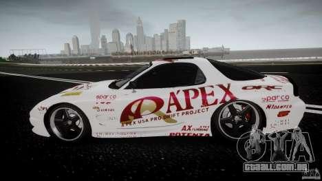 Mazda RX7 FD Apex Imamura para GTA 4 esquerda vista
