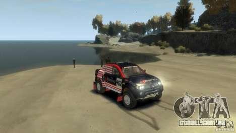 Mitsubishi L200 Rally para GTA 4 vista direita