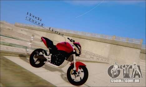 Honda CB600F Hornet 2012 para GTA San Andreas esquerda vista
