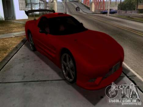 Chevrolet Corvette C5 para GTA San Andreas vista interior