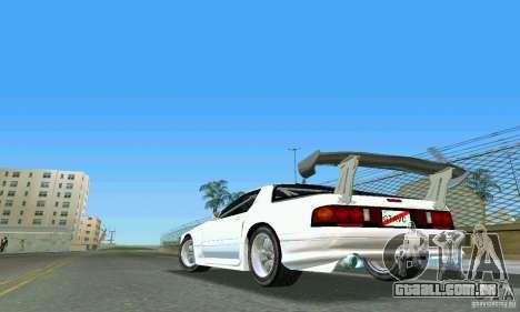 Mazda Savanna RX-7 FC3S para GTA Vice City deixou vista