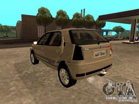 Fiat Palio 1.8R para GTA San Andreas vista superior