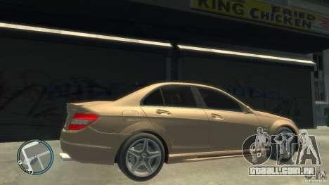 Mercedes-Benz C63 para GTA 4 vista interior