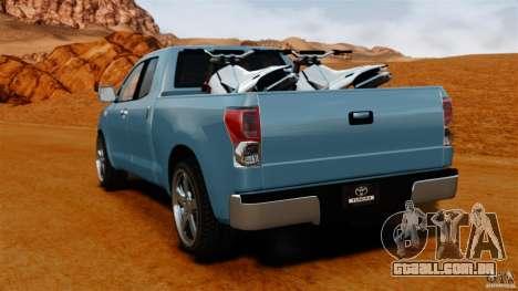 Toyota Tundra 2011 para GTA 4 traseira esquerda vista