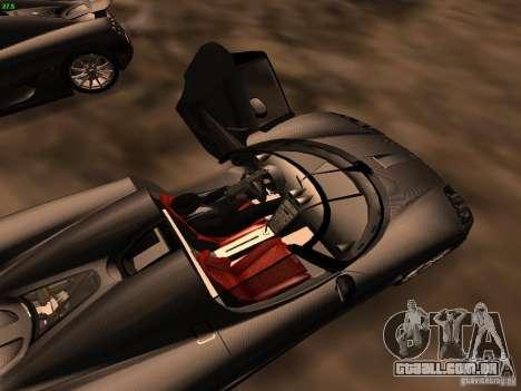 Koenigsegg CCXR Edition para GTA San Andreas vista superior