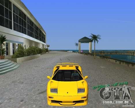 Lamborghini Diablo SV para GTA Vice City vista traseira esquerda