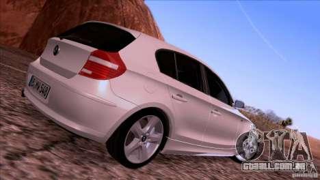 BMW 120i 2009 para GTA San Andreas vista traseira