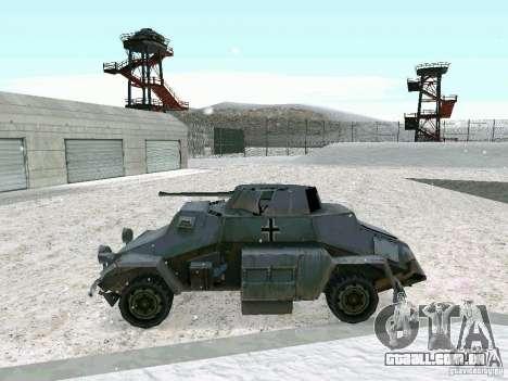 Transporte de pessoal blindados do jogo atrás da para GTA San Andreas vista direita