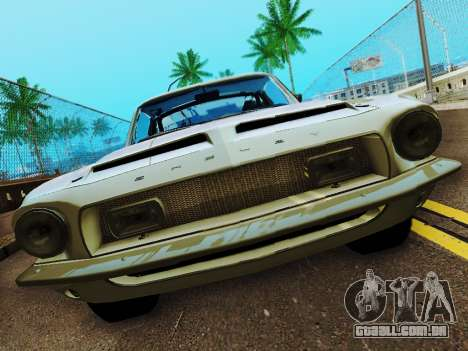 Shelby GT 500 KR para GTA San Andreas vista interior