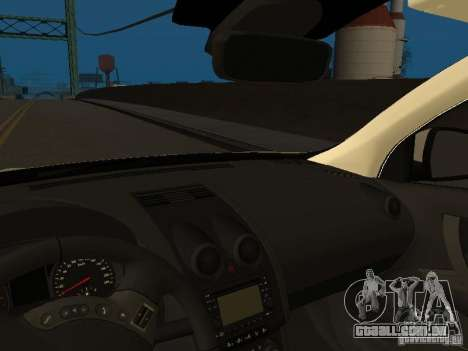 Nissan Qashqai Espaqna Police para GTA San Andreas vista interior