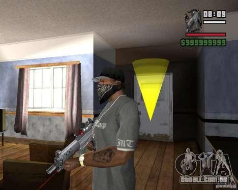 Mira a laser rifle para GTA San Andreas segunda tela