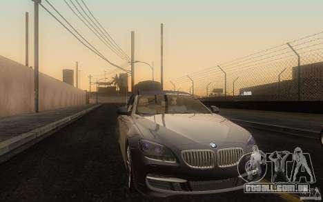 BMW 6 Series Gran Coupe 2013 para GTA San Andreas vista interior