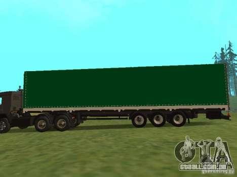 Nefaz 93344 verde para GTA San Andreas esquerda vista