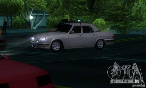 GAZ Volga 31105 advogado para GTA San Andreas vista interior