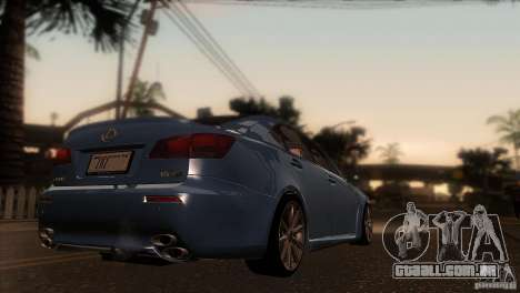 Lexus IS-F para GTA San Andreas vista direita