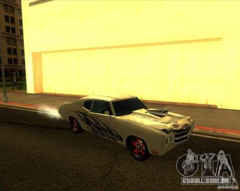 Chevy Chevelle SS Hell 1970 para GTA San Andreas vista traseira