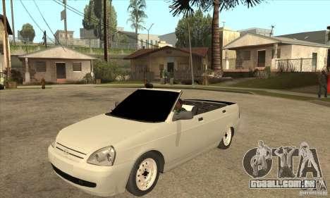 VAZ LADA Priora conversível para GTA San Andreas