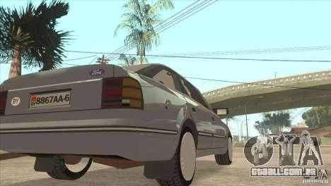 Ford Scorpio para GTA San Andreas vista traseira