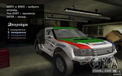 Bowler Nemesis para GTA San Andreas vista traseira