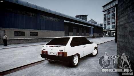 VAZ 21083i para GTA 4 vista de volta