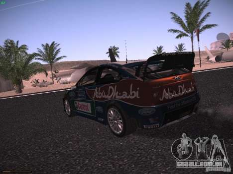 Ford Focus RS WRC 2010 para GTA San Andreas vista direita