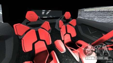 Lamborghini Sesto Elemento 2011 Police v1.0 RIV para GTA 4 vista interior